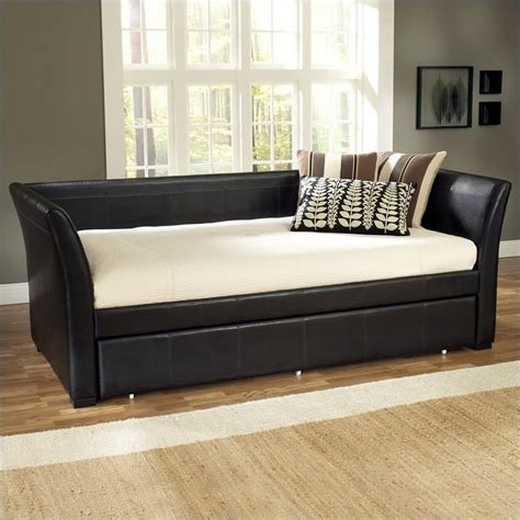 leather day bed daybed with trundle canada