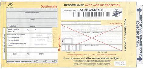 Exemple De Lettre Recommandée lettre recommand 233 e contrat de travail 2018