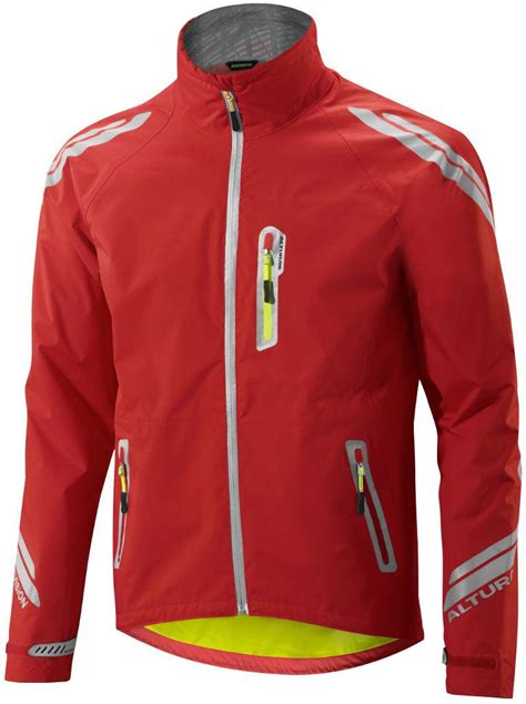 red waterproof cycling jacket altura night vision evo mens waterproof cycling jacket red