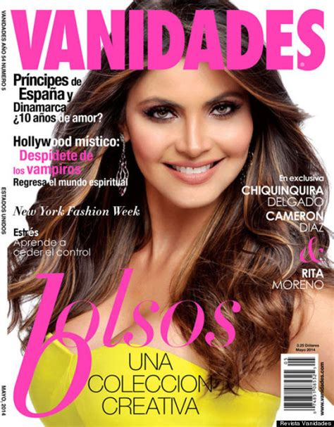 revista vanidades chiquinquir 225 delgado en la portada de la revista vanidades