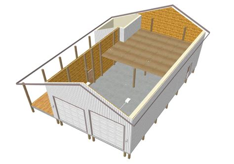 pole barn with loft plans 30 x 40 pole barn plan pole barn plans
