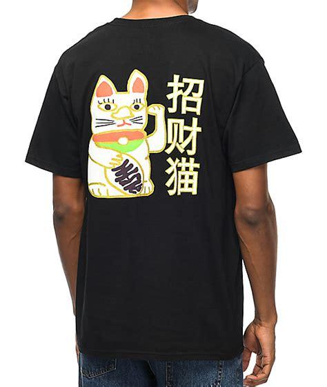 T Shirt Luck Black a lab lucky cat black t shirt