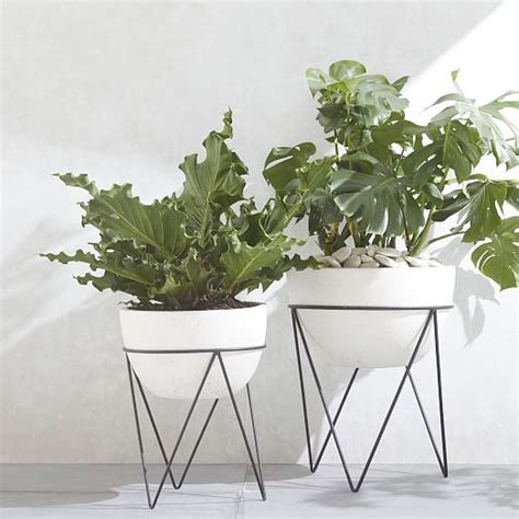 iris planter chevron stand west elm