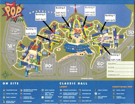 pop century resort map planwdw
