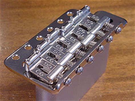 Saddle Bridge Tremolo Model Stratocaster callaham vintage guitars and parts vintage s model strat bridge assembly details