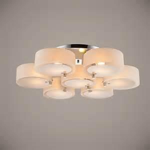 ecolight flush mount modern contemporary 7 lights ceiling