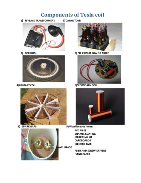 tesla coil flyback transformer tesla coil thesis