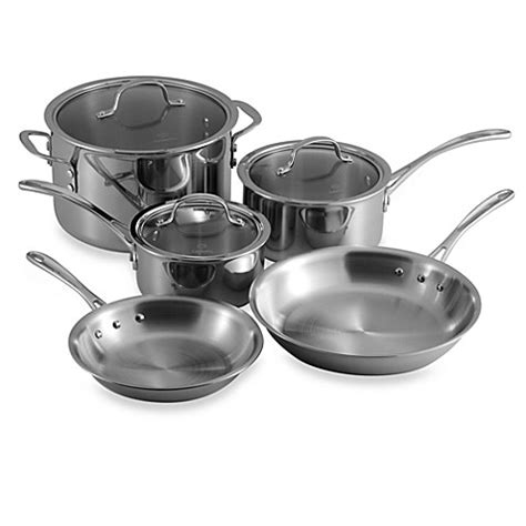 bed bath and beyond wok calphalon tri ply stainless steel 8 piece cookware set and
