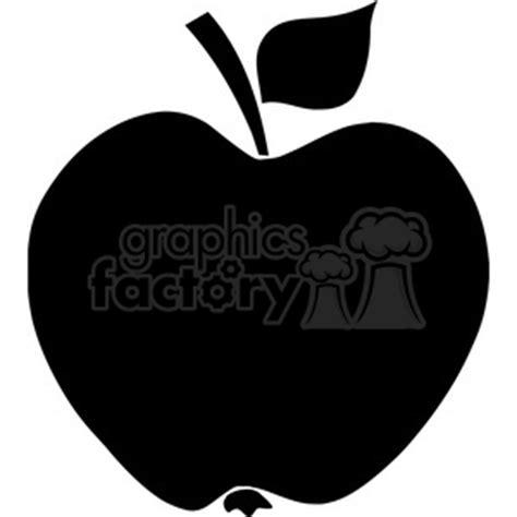 royalty free 12908 rf clipart illustration apple black