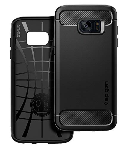 Casing Samsung S7 Edge Carbon Fiber Armor Rugged Soft Back Cover spigen rugged armor galaxy s7 edge with resilient