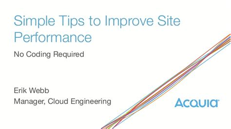 simple tips to improve site performance no coding required