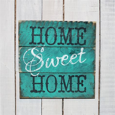 country pallet sign home sweet home painted reclaimed