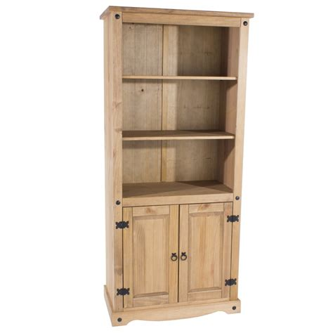 entryway bookcase abdabs furniture corona pine 2 door bookcase