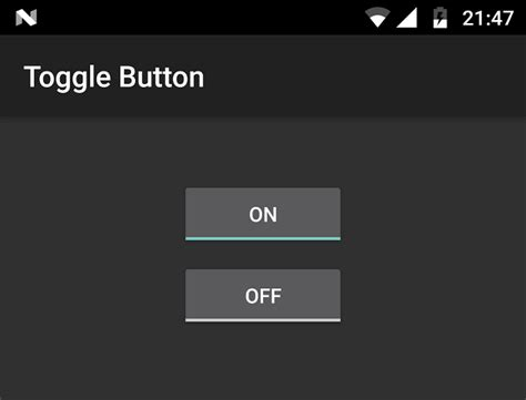 android toggle button android toggle button
