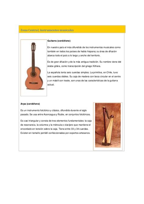 imagenes instrumentos musicales zona sur instrumentos musicales de chile