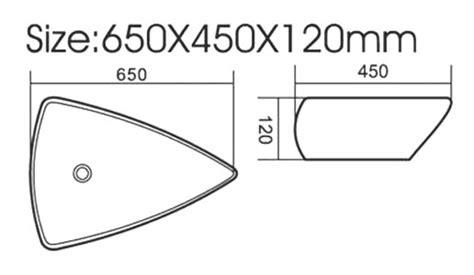 piatto doccia triangolare modello lavabo d appoggio da 65x45 cm tipo triangolare