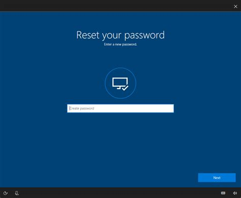 windows reset the password windows 10 account password recovery option from the lock