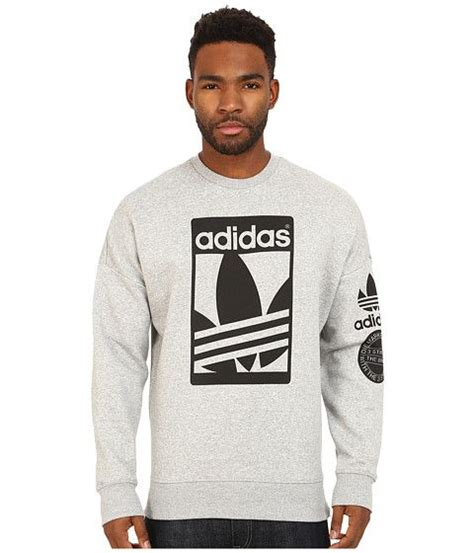 Adidas Men39s Authentic Logo Crew Sweatshirts Blue Original sporting fashion a collection of other ideas to try