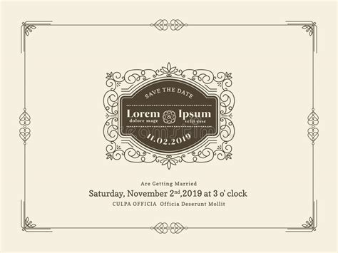 Vintage Wedding Cards Templates by Vintage Wedding Invitation Card Border And Frame Template