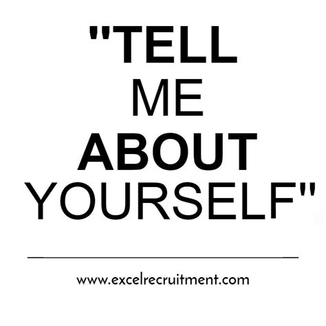 Tell Me Something About Yourself Sle Answer Mba by Tell Me About Yourself Answers