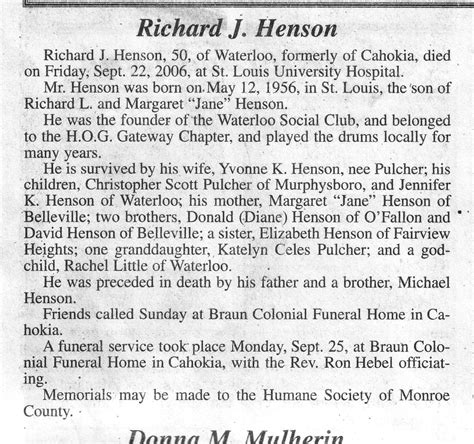 county il obituaries h