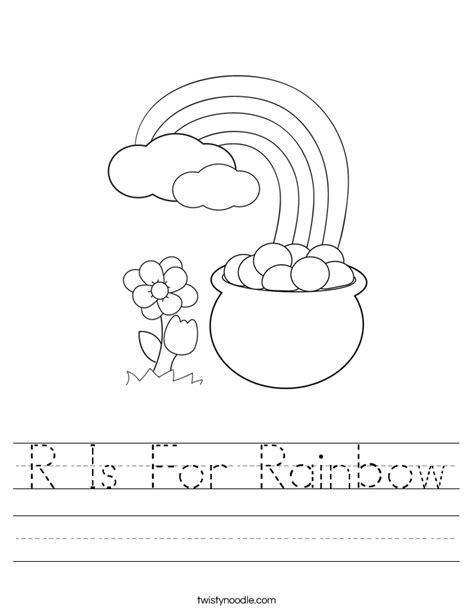 r is for rainbow worksheet twisty noodle r is for rainbow worksheet twisty noodle