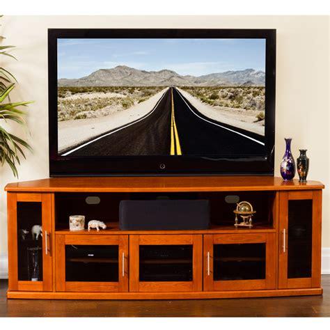 Dynamic Home Decor Plateau Newport 80 W Newport 80 Quot Corner Tv Stand In Walnut