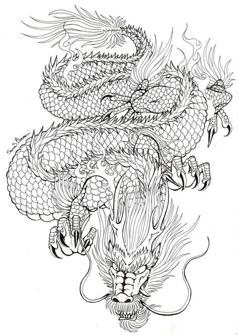 dragon tattoo drawing best 25 japanese ideas on