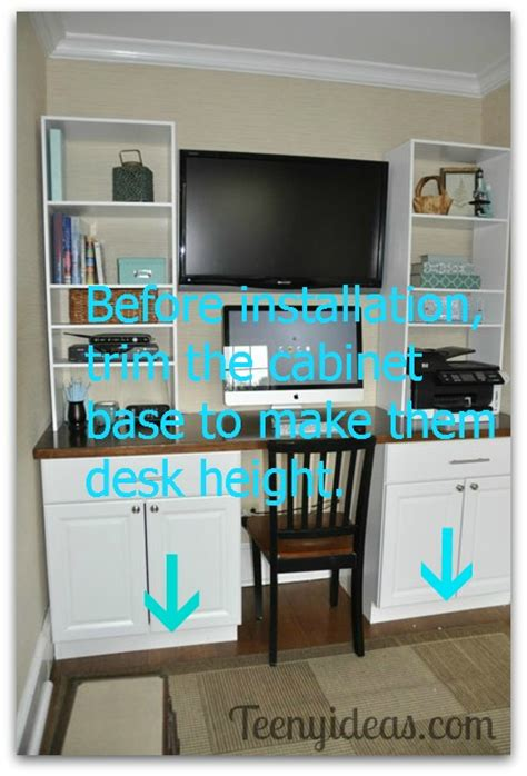 desk height base cabinets lowes den source list and what i would do differently teeny ideas