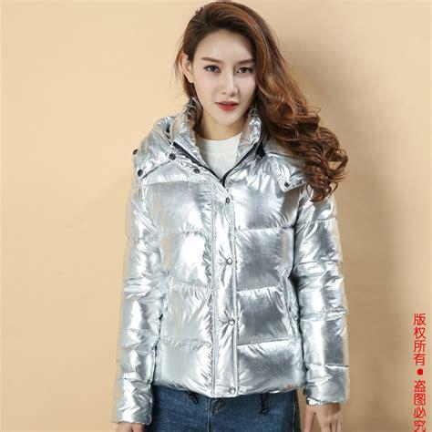 Parka 117 Gold Silver Bm winter jackets warm coat silver metal color bread style 2017 parka winterjas