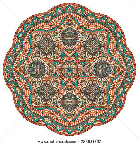 what elements defined ottoman art mandala oriental style design element abstract stock