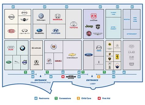 floor plan car houston auto show floor plan