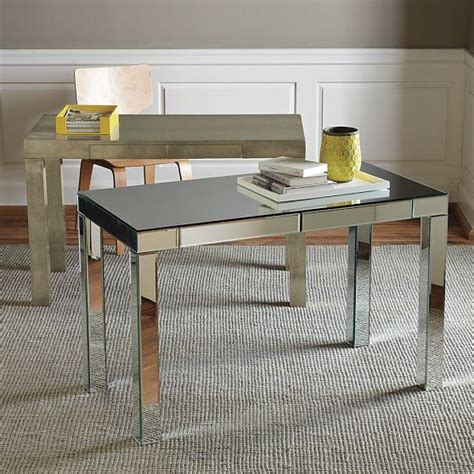 West Elm Office Desk Parsons Mirror Desk West Elm Modern Desks And Hutches By West Elm