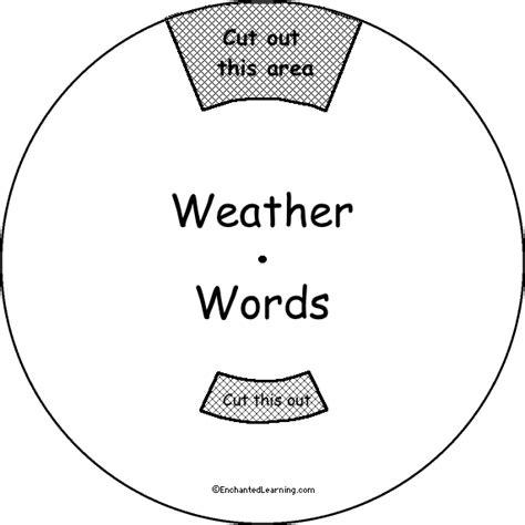weather word wheel printable worksheet
