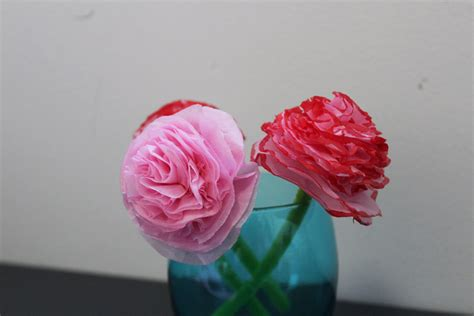 Tissue Paper Flower Crafts - tissue paper flowers mothers day craft flowers tissue