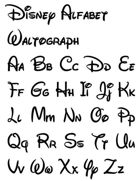 Schrift | Letras de disney, Imágenes de letras y Caligrafía