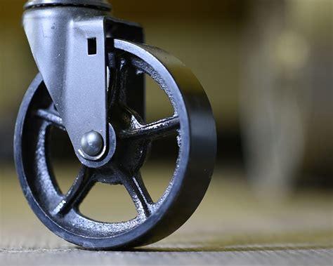Cast Iron vs. Polyurethane Tread Antique Caster Wheel