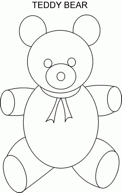 free teddy template teddy coloring pages templates az coloring pages