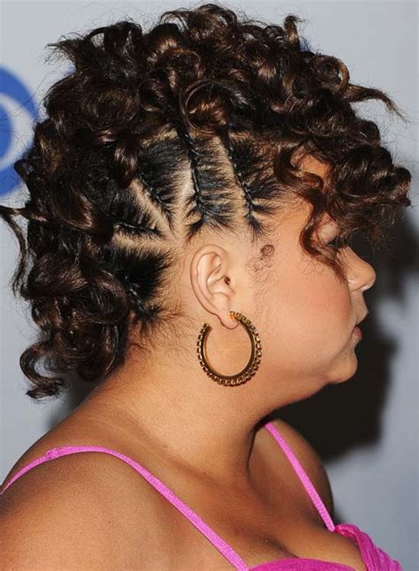 curly hairstyles with braids on the side beauty and fashion for all categories curly hairstyles