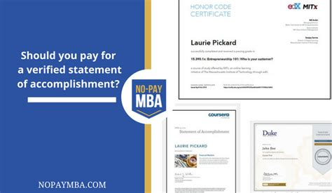 Mooc Mba Certificate by Should You Pay For A Verified Mooc Certificate No Pay Mba