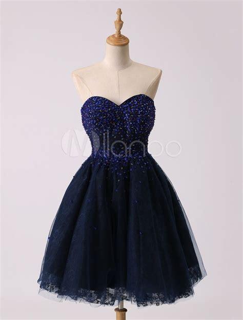 spektakulaer dunkelblaues kleid kurz bester preis abendkleid