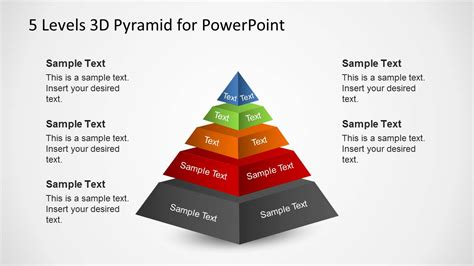 5 Levels 3d Pyramid Template For Powerpoint Powerpoint Pyramid Template