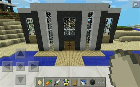 Bedroom In Minecraft Pe Minecraft Pe Modern House