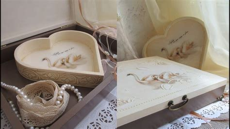 Wedding Box Decoupage by Decoupage Tutorial Wedding Box Decoration Idea Diy