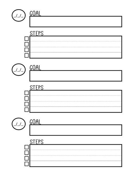 goals printable ideas pinterest bullet
