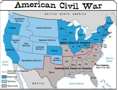 us map at time of civil war war between the states american civil war and
