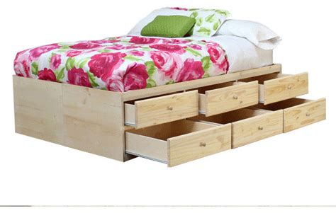 12 Drawer Bed Frame Storage Bed With 12 Drawers Unfinished Contemporary Bed Frames By Furniture