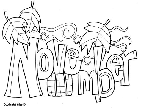 Coloring Page For November | november coloring pages to download and print for free