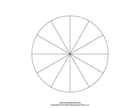 10 Piece Blank Pie Chart