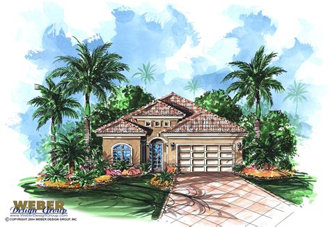 Mediterranean Bungalow House Plans by Mediterranean House Plan Waterfront Golf Course Bungalow